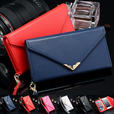 Luxury Women Lady Leather Envelope Wallet Case For Samsung Galaxy S9+/S8/Note 8