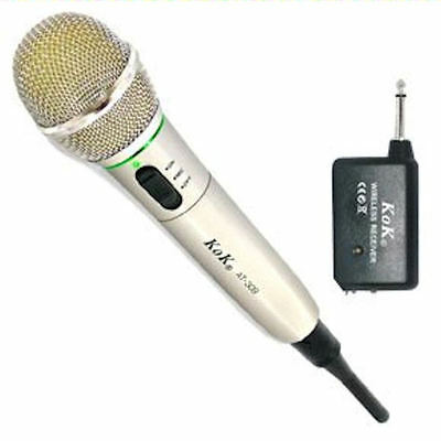 Microphone Wireless Y With Cable For Dj, Karaoke, Etc.- New