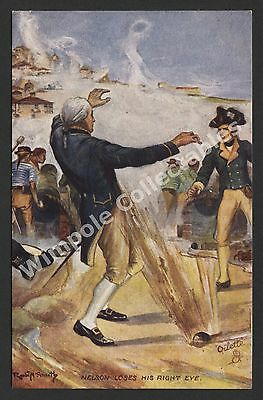 Lord Horatio Nelson, 1906, Loses Right Eye, 1794. Tuck's #9137, Postcard. (3201)