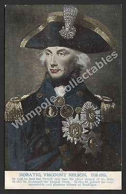Nelson, 1905, Portrait, 'Admirals All' Series #10, J J Keliher, Postcard. (3232)
