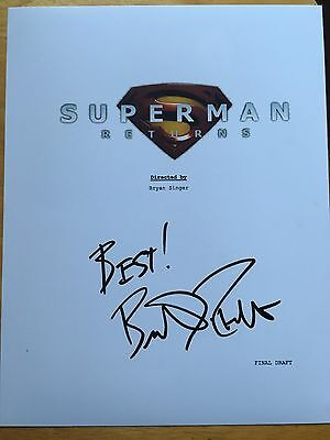 Brandon Routh Signed Superman Movie Script Cover Exact Proof