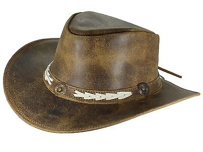Thor Equine Leather hat Cowboy Hat Western Hat, Sandover, S-XL