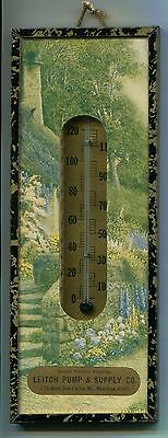 Vintage advertising thermometer picture, Leitch Pump & Supply Co., San Jose, CA