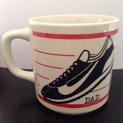 Vintage 70's 80's Nike Shoe Running Jogging Marathon Tennis Coffee Cup Mug Dad