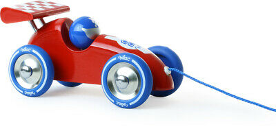 Vilac Red Wooden Racing Car Pull Along | Kids Childrens Toy Car France