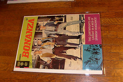 "vintage BONANZA comic: #25, ""VERYGOOD"" condition GOLD KEY, FAMILY GUNFIGHT COVER"