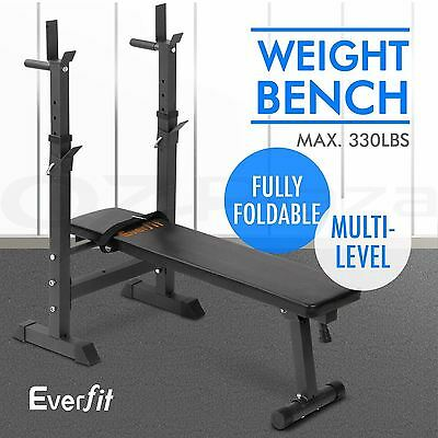 EVERFIT Foldable Fitness Weight Training Bench 330lbs Home Gym Workout