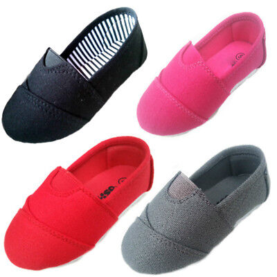 New baby toddler girls canvas shoes red,black,gray,fucshia 4-10