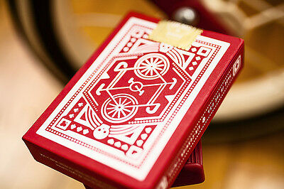 Red Wheel Playing Cards Deck by Art of Play FREE SHIPPING!