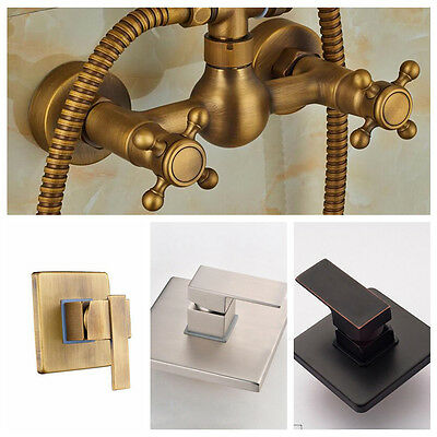Solid Brass Bathroom Shower Valve Mixer Tap Wall Mount Hot Cold Control Valve