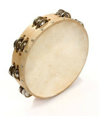 "Percussion Plus 8"" Tambourine with head 12 Jingles"