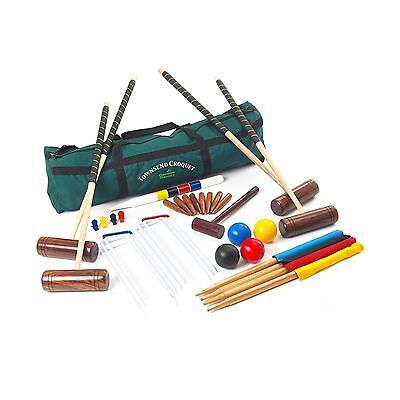 Garden Games Townsend Full sized 4 Player Croquet Set With Canvas Carry Bag New