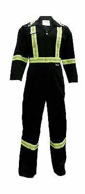 Viking CSA Striped Safety Coveralls X-Large Black New