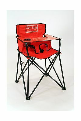 Ciao! Baby Portable High Chair Red with Carrying Case New
