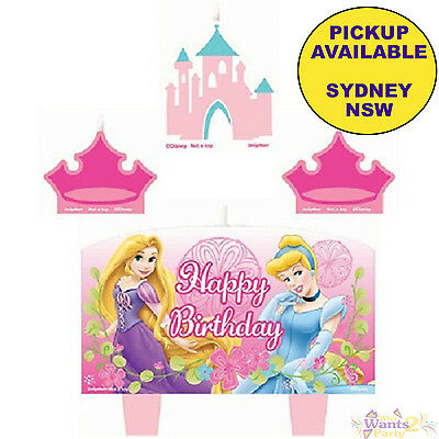 Disney Princess Party Supplies 4 Mini Birthday Candles Cake Toppers Decorations