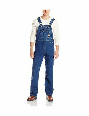 Berne Men's Extra Big & Tall Original Unlined Washed Denim Bib Overall New