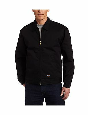 Dickies Men's Lined Eisenhower Jacket Black X-Large New