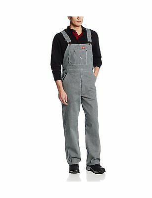 Dickies Men's Bib Overall - 10 Ounce Hickory Stripe 36W x 30L New