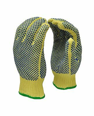 G & F 1670M Cut Resistant 100-Percent Kevlar Gloves with PVC Dots on Both... New