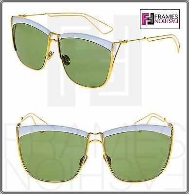 4d8effc23a CHRISTIAN DIOR SO ELECTRIC Gold White Metal Green Mirrored Sunglasses  SOELECTRIC