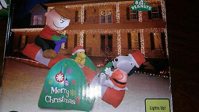 Charlie Brown/Snoopy Peanuts Christmas Airblown Inflatable Holiday Decoration