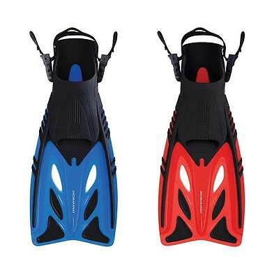 Mirage Crystal Kids Snorkel Dive Swimming Pool Fins / Flippers Blue and Red Size