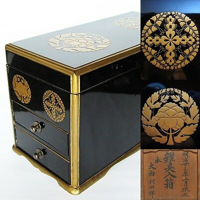 Buddhist altar fittings lacquerware box Japan Meiji era (1890) Urushi nuri