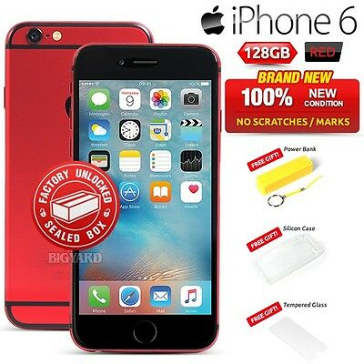 New Factory Unlocked APPLE iPhone 6 Red HIV/AIDS Global Fund 128GB 4G Smartphone