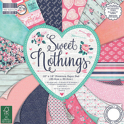 First Edition 12x12 Paper - SWEET NOTHINGS - Cardmaking Scrapbooking FULL PACK