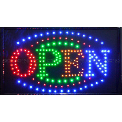 """21"""" x 13"""" LED Business Large Open Sign + On/Off Switch Ultra Brighter Neon Light"""