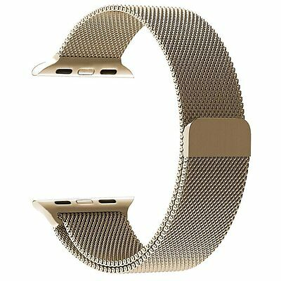 PUGO TOP Apple Watch Band - Milanese Loop Steel Mesh - 38mm - Champagne Gold