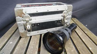 """Used Isco-Optic Ultra 200-300mm Projector Lens 7.75-11.75"""" f3.5 Flight Case"""