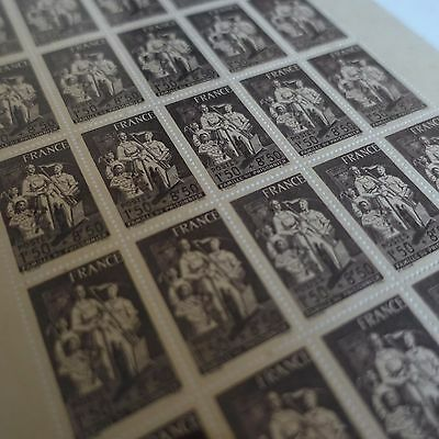 FEUILLE SHEET TIMBRE FAMILLE DU PRISONNIER N°585 x25 1943 NEUF ** LUXE MNH