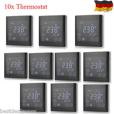 10x Digital Lcd Heizung Thermostat Fussbodenheizung