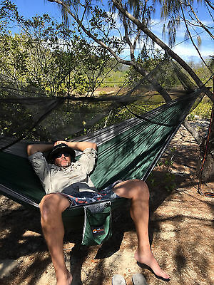 Gone Walkabout King Size Camping Hammock With Insect Net & Tree Strap Combo