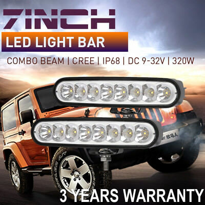 Top 6inch 80W CREE LED work Light Bar Combo Beam spot flood 4x4 4wd Offroad lamp
