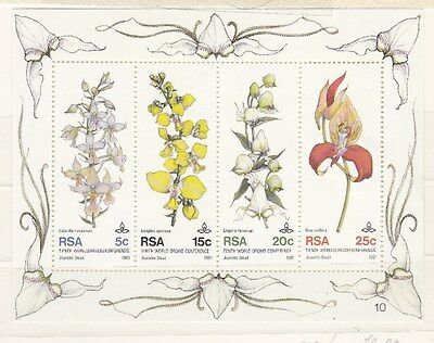 Sud Africa South Africa 1981 Foglietto Bf 12 10 conferenza orchidee MNH