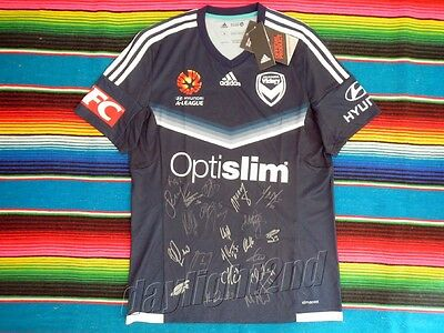 ✺Signed✺ 2017 MELBOURNE VICTORY A-League Grand Final Jersey PROOF COA 2016