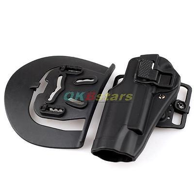 Quick Draw Tactical Military Left Hand Belt Holster With Paddle For Colt 1911