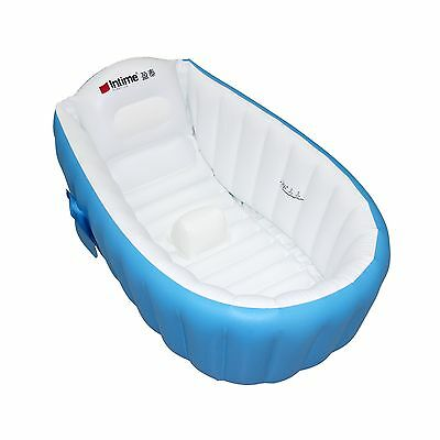 Baby Infant Travel Inflatable Non Slip Bathing Tub Bathtub (Blue) Blue New