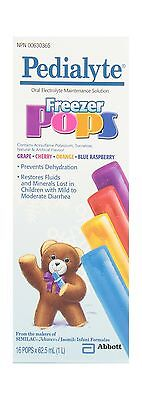 Pedialyte Freezer Pops Electrolyte 16 Units New