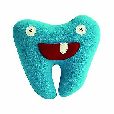 """Cate and Levi 8"""" Handmade Blue Softy Tooth Pillow Pal (100% USA Polar Fle... New"""