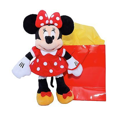 Minnie Mouse Plush - Red - Small - 12 With ''Genuine Original Authentic D... New