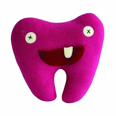"""Cate and Levi 8"""" Handmade Pink Softy Tooth Pillow Pal (100% USA Polar Fle... New"""