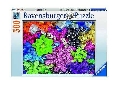 Ravensburger Colorful Ribbons Jigsaw Puzzle (500-Piece) New