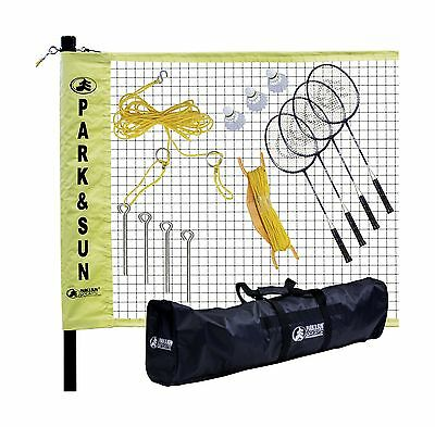 Park & Sun Sports Portable Outdoor Badminton Net System with Carrying Bag... New