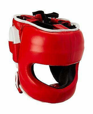 Ringside DFSH RED S/M Deluxe Face Saver Boxing Headgear S/M Red New
