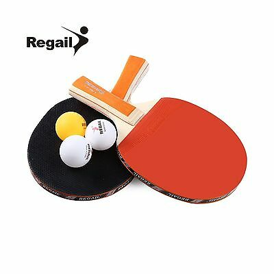 Smartlife Table Tennis Ping Pong Racket Two Long Handle Bat Paddle A508 T... New