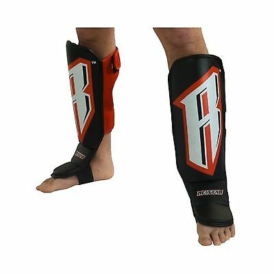 Revgear Grappling Back Open Shin Guard with Straps X-Small New