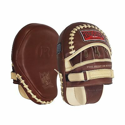 Ringside Heritage Panther Punch Mitts 15-Ounce Tan New